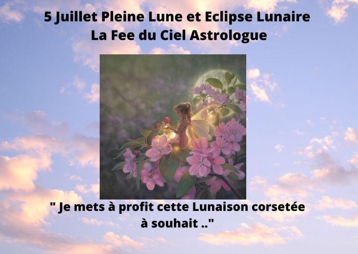 Pleine Lune et Eclipse Lunaire du 5 Juillet