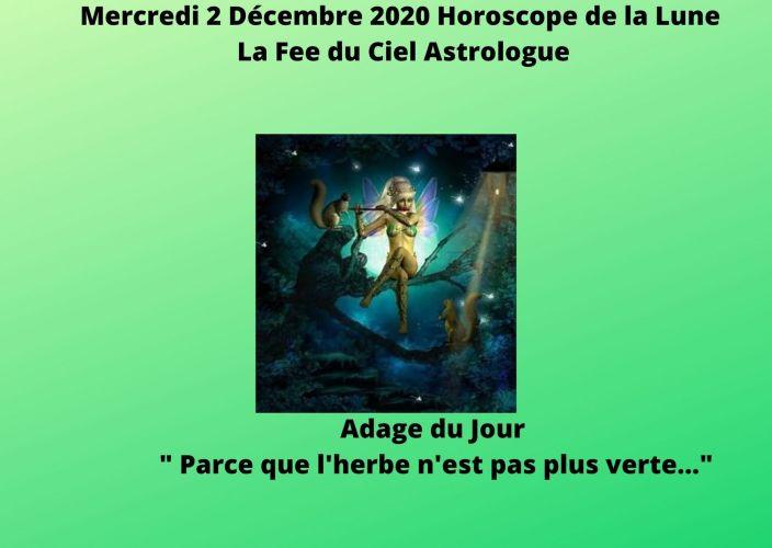 Horoscope de la Lune du 2 Décembre 2020