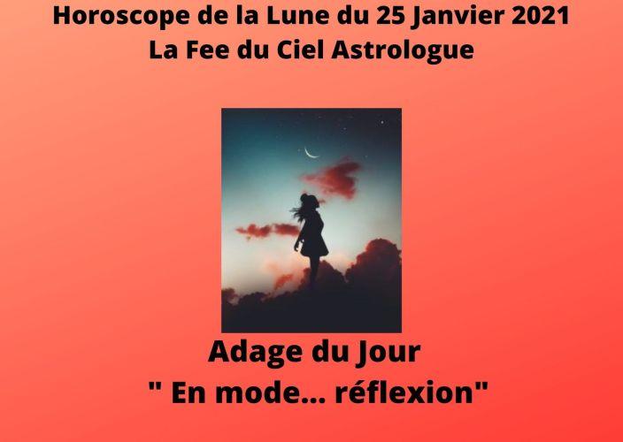 Horoscope de la Lune du 25 Janvier 2021