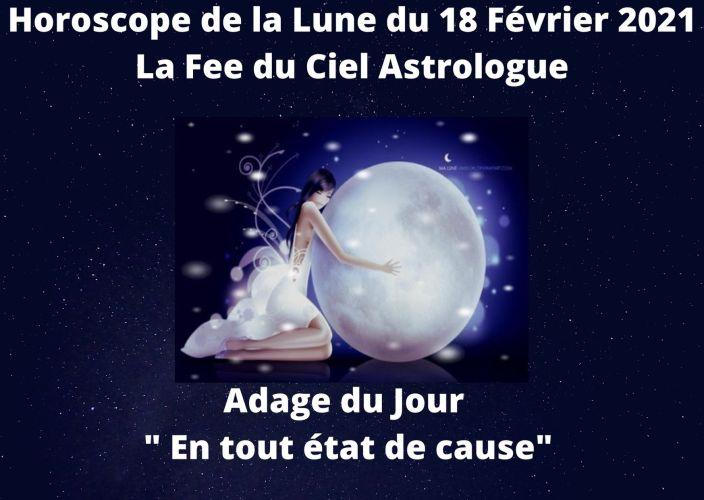 Horoscope de la Lune du 18 Février 2021