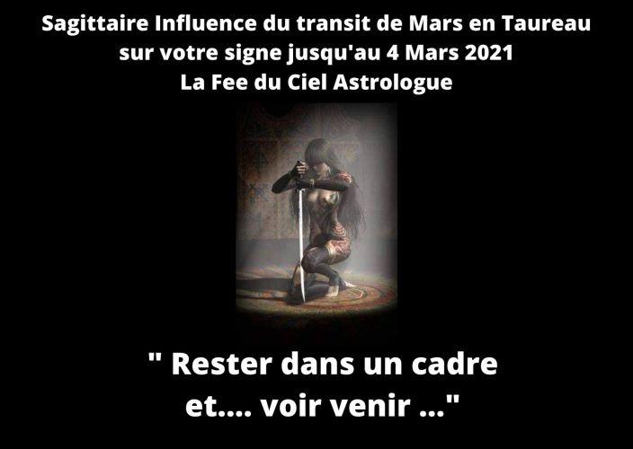 Sagittaire Influence de Mars transit  en Taureau sur votre signe jusqu'au 4 Mars 2021