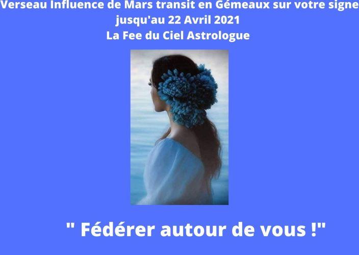 Verseau Influence de Mars transit en Gémeaux sur votre signe jusqu'au 22 Avril 2021