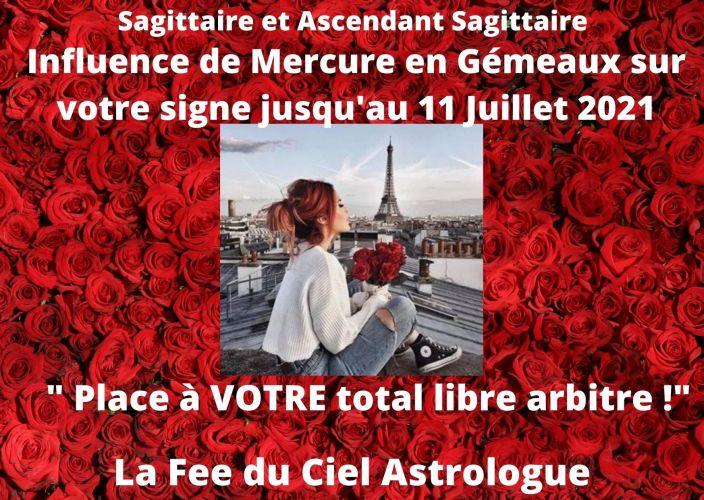 Sagittaire et Ascendant Sagittaire Influence de Mercure transit en Gémeaux jusqu'au 11 Juillet 2021