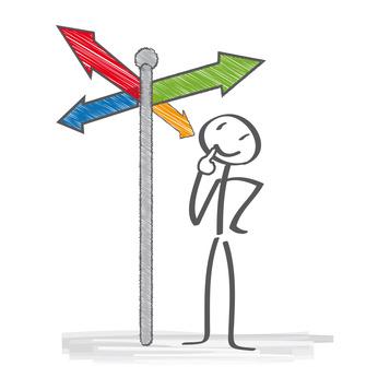 Welcher Weg, Wegweiser, Navigation