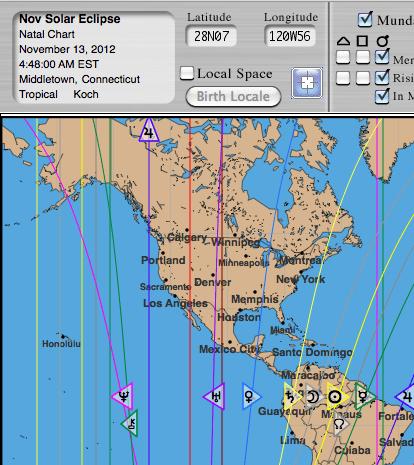 Solar Eclipse Astro*Carto*Graphy Map