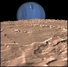 View of Neptune via Triton