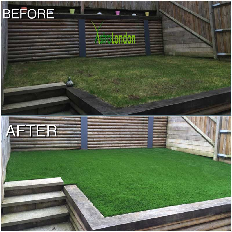 Exceptional We Have Just Completed Installing Our Luxury Artificial Garden Grass In  Croydon. Here Is A Great Before And After Photograph Of Just How Much Of A  ...