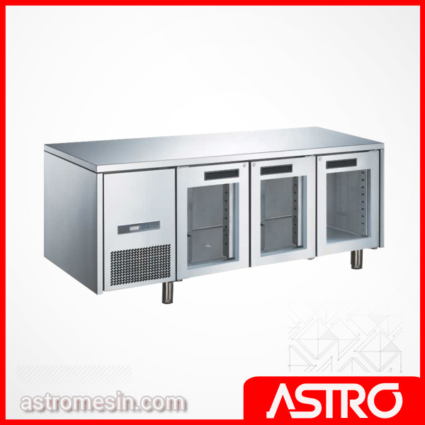 Glass Door Under Counter 4 Pintu