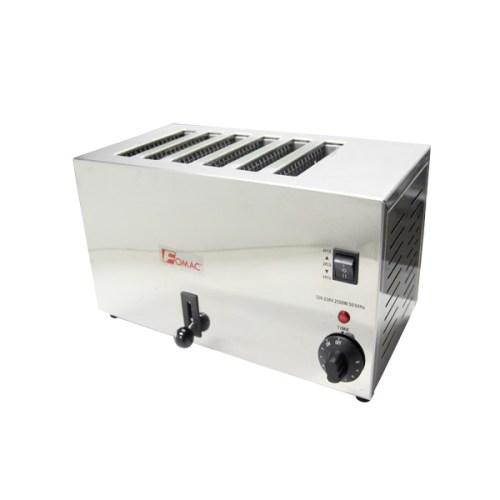 Bread Toaster Alat Panggang Roti Fomac 6 Slot Stainless Steel