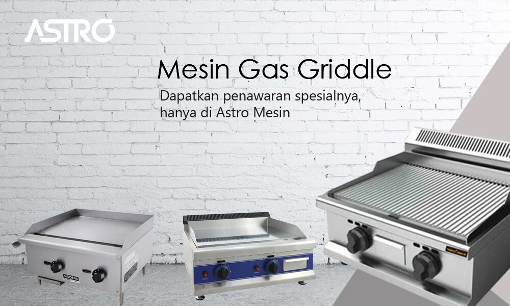 Banner Mesin Gas Griddle