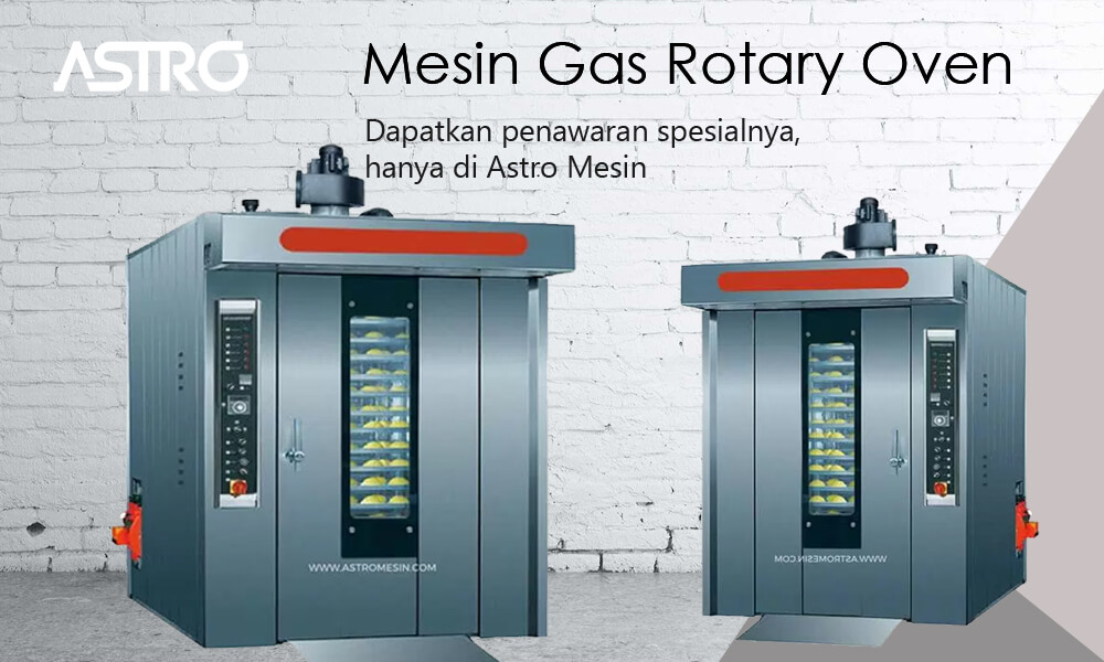 Banner Mesin Gas Rotary Oven