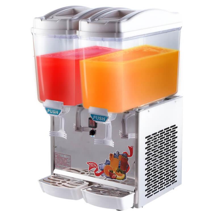 Mesin Juice Dispenser Pendingin Minuman 2 Tabung