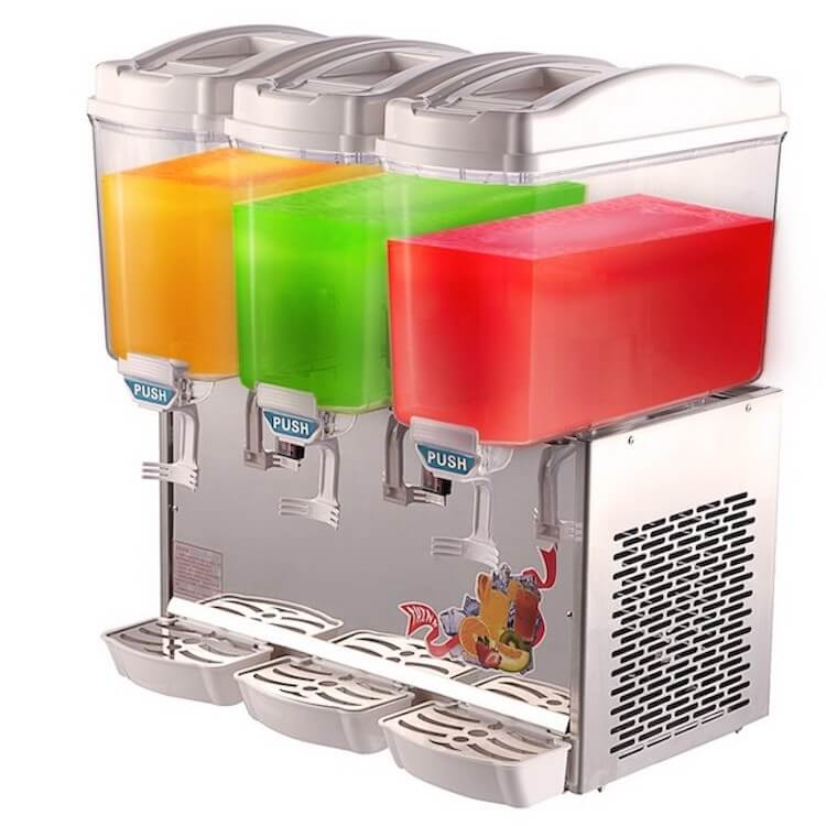 Mesin Juice Dispenser Pendingin Minuman 3 Tabung