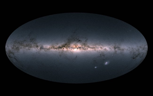 Bima Sakti yang dipetakan satelit GAIA. Kredit: Gaia Copyright: ESA/Gaia/DPAC