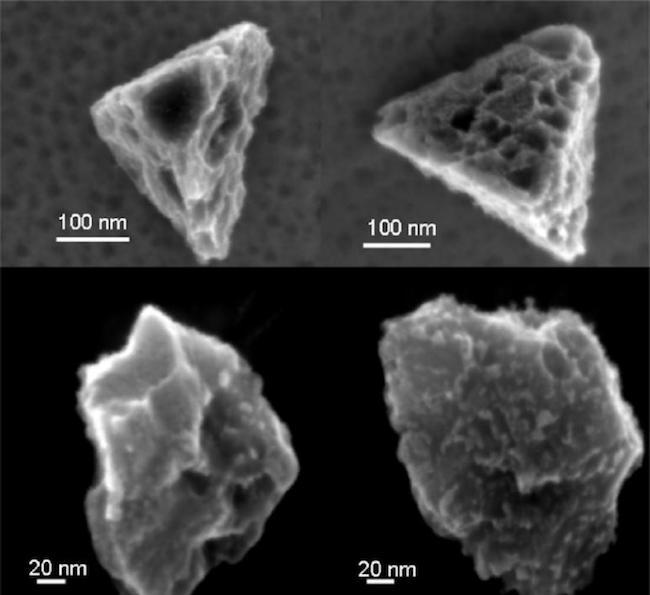 Butiran silikon hibrida yang diekstrak dari meteorit Murchison. Kredit: Amari et al. (1994) Geochimica et Cosmochimica Acta 58, 459-470