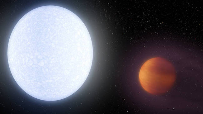 Ilustrasi Jupiter panas Kelt-9b. Kredit: NASA/JPL-Caltech