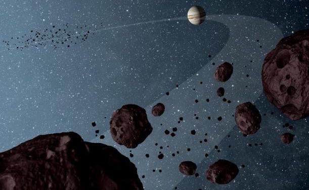 Ilustrasi migrasi Jupiter. Kredit: NASA/JPL-Caltech