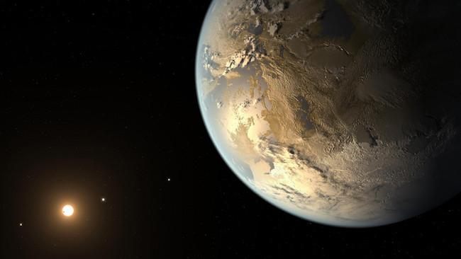 Ilustrasi Kepler 186f yang memiliki kemiripan dengan Bumi. Kredit: NASA/AMES/JPL/Caltech