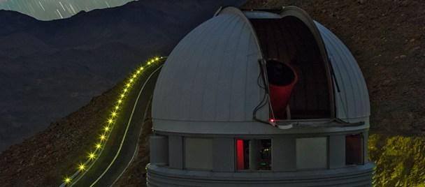 Teleskop EULER di La Silla. Kredit : ESO/B. Tafreshi