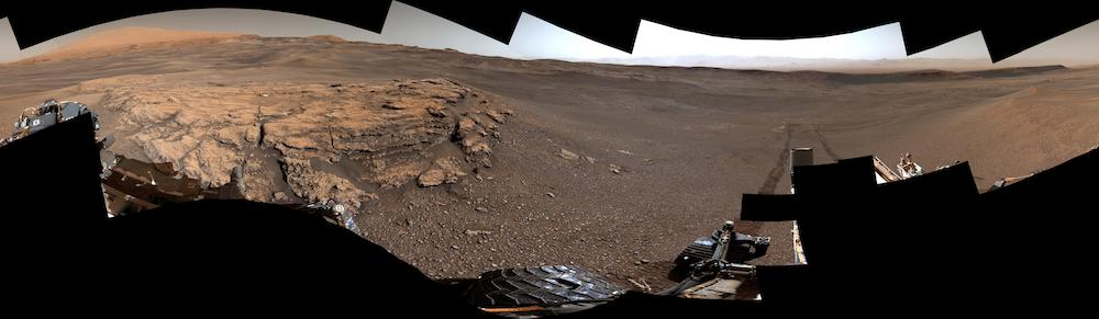 Foto panorama dari Teal Ridge, Mars. Kredit: Curiosity / NASA