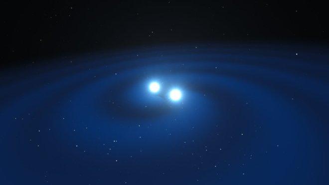 Artist's impression of merging neutron stars