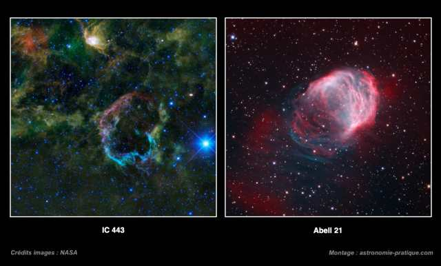 IC 443 et Abell 21