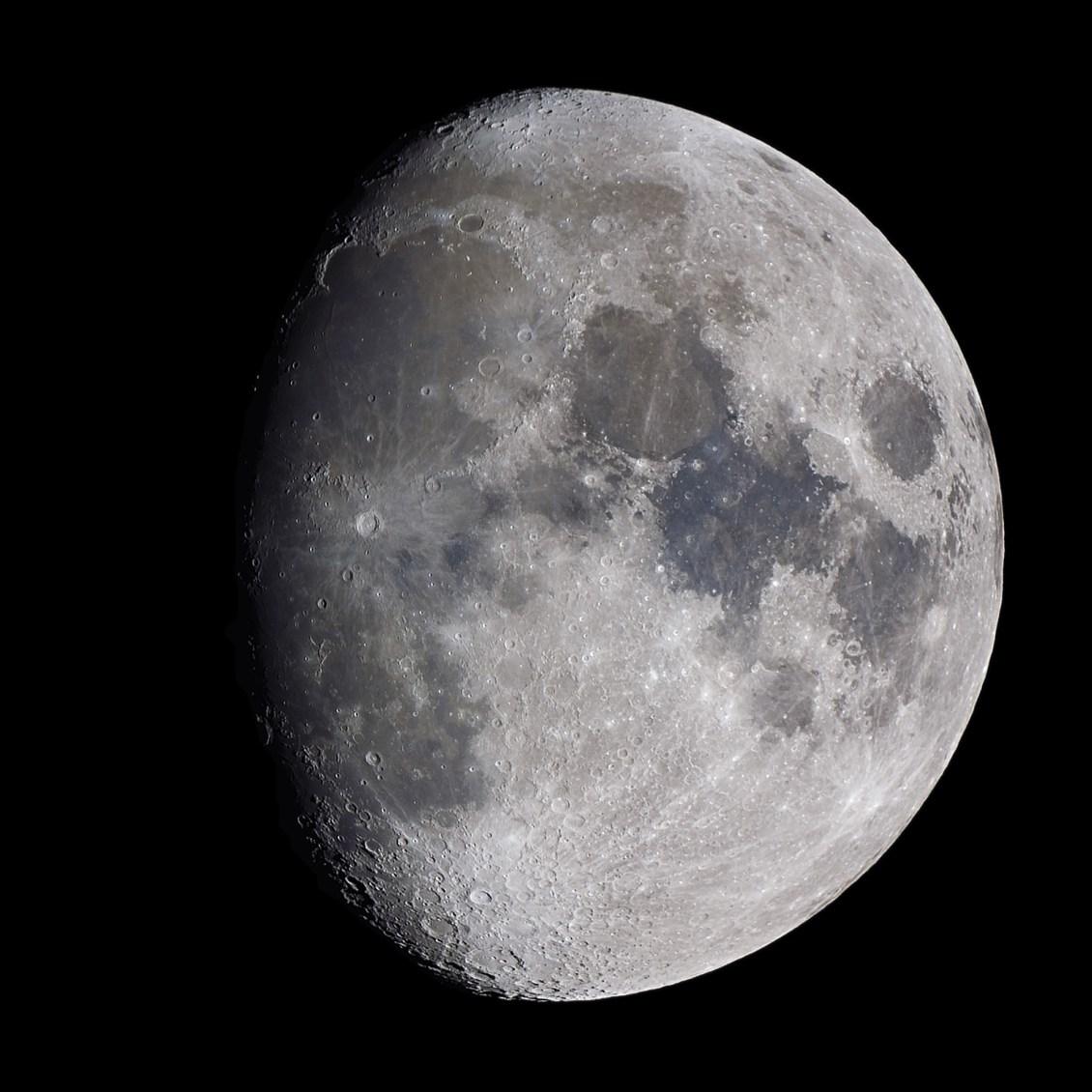 a Waxing Gibbous Moon is seen in the sky
