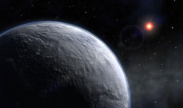 Um planeta rochoso, algures numa estrela distante... (http://astronomyonline.org)