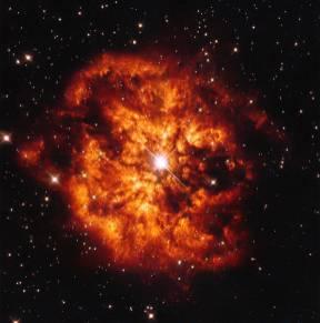 Nebula M1-67 and Bright Star Hen 2-427