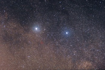 Faint Proxima Centauri. Image credit: Skatebiker