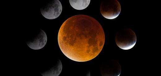 Stages of lunar eclipse september 2015