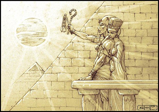 Akhenaton e Nefertiti (LeeReex @DeviantArt)