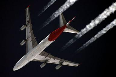 Boeing 747 a 11 km de altitude. Crédito: Sergey Kustov.