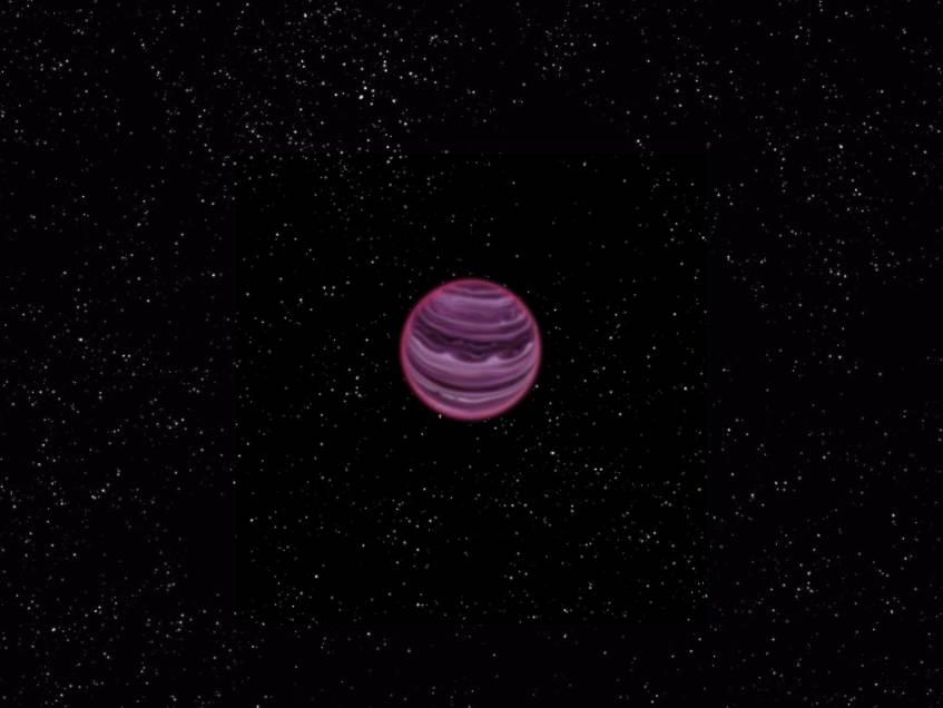 Concepção artística do planeta PSO J318.5-22. Crédito: MPIA/V. Ch. Quetz