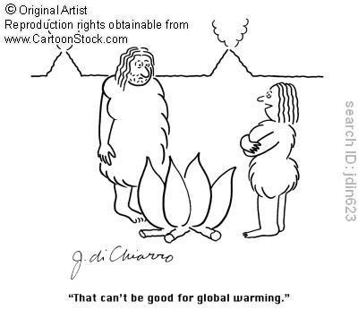 """Tradução: """"Isso não pode ser bom para o aquecimento global."""""""