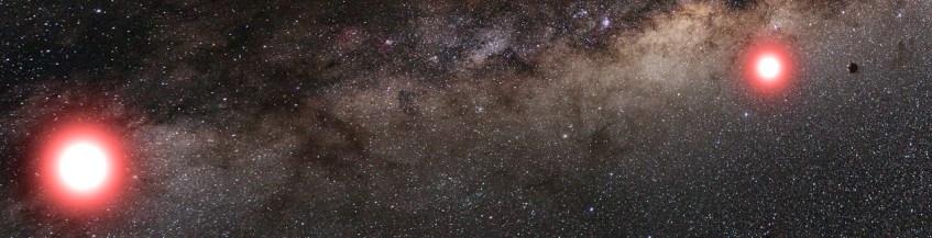 Ilustração Artística do novo planeta, descoberto a orbitar uma estrela num sistema binário. Crédito: Cheongho Han