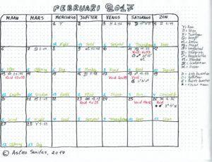 februari 2017 astrologische kalender maancycli
