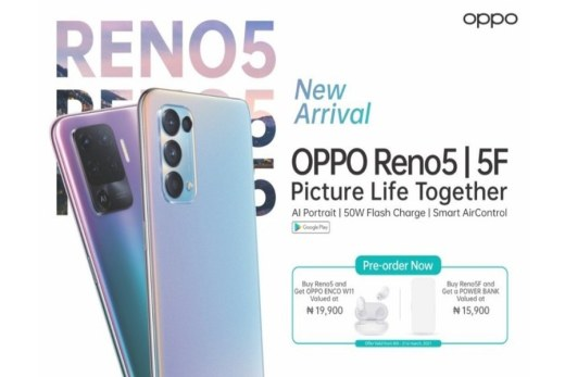 Oppo Reno 5 and Reno 5F launched in Nigeria - Price/Specs