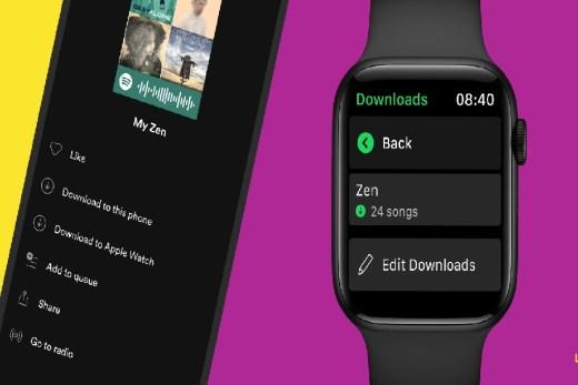Spotify finally brings offline music downloads to Apple watch