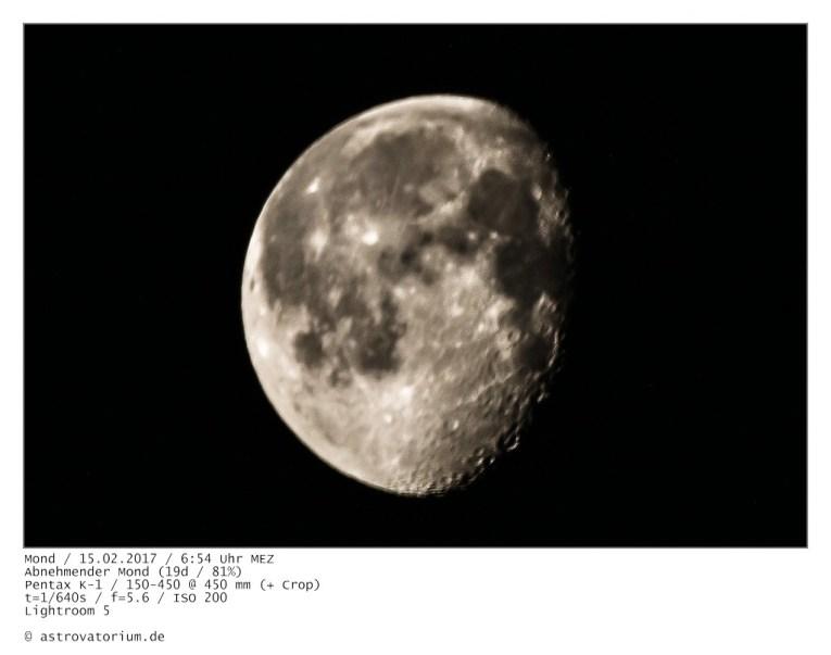 Mond am frühen Morgen
