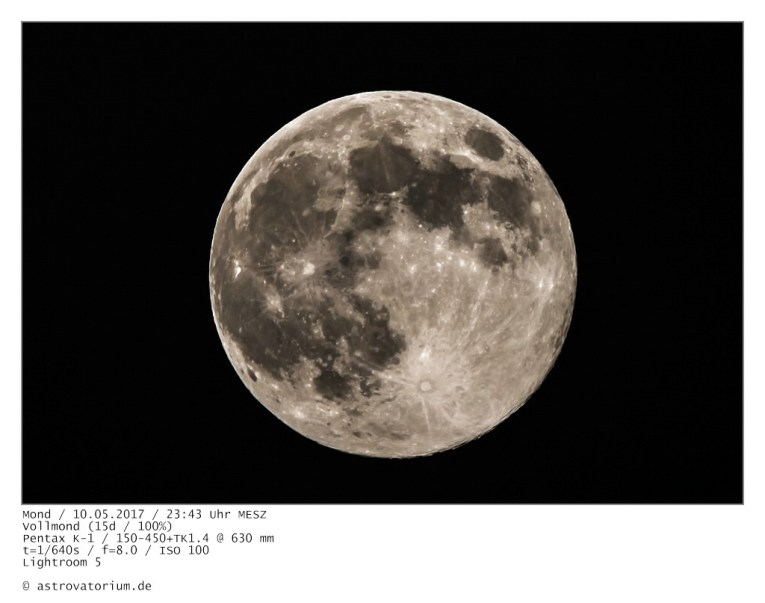 Vollmond (15d/100%) / 10.05.2017
