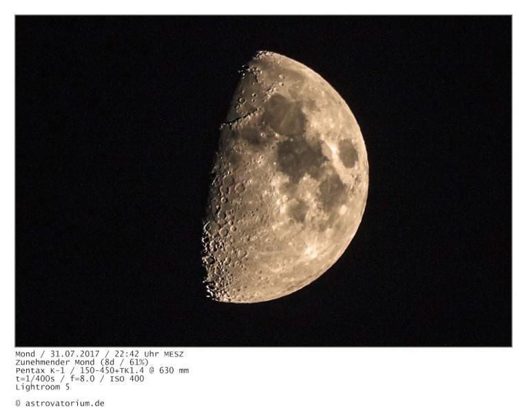 Zunehmender Mond (8d/61%)