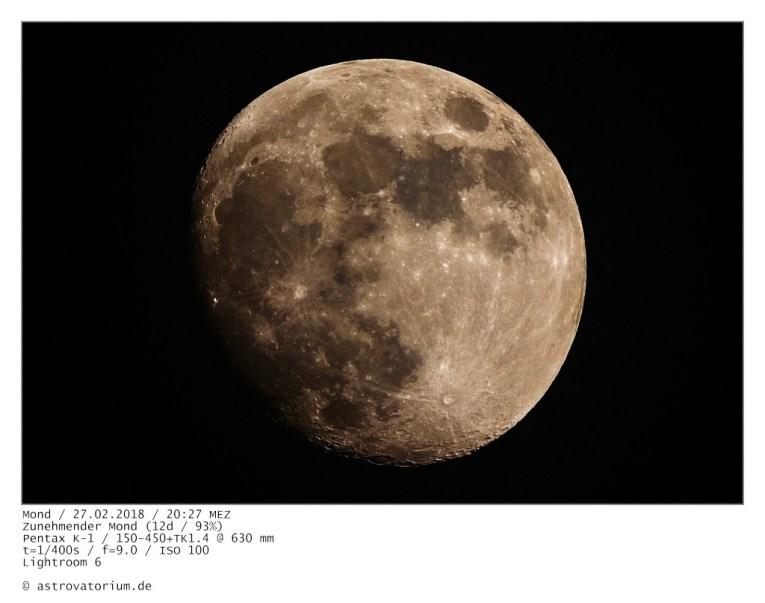 Zunehmender Mond (12d/93%)