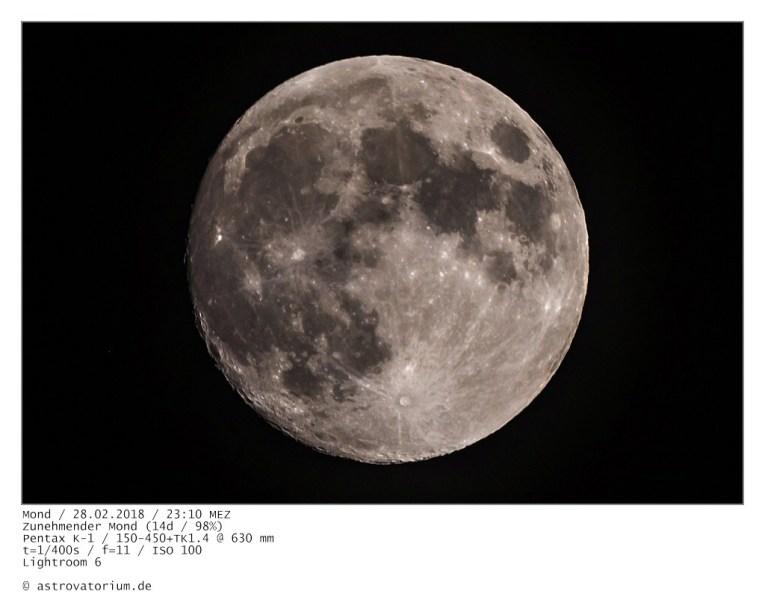 Zunehmender Mond (14d/98%)