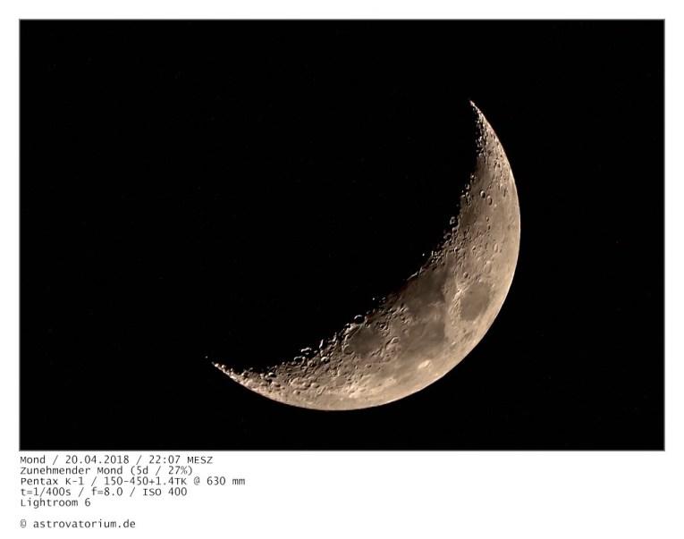 Zunehmender Mond (5d/27%)