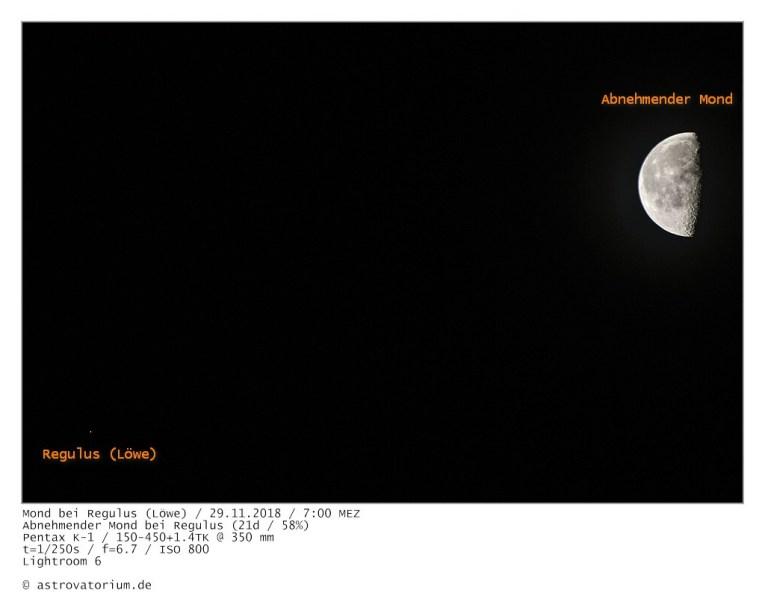 181129 Abnehmender Mond bei Regulus 21d_58vH_beschriftet