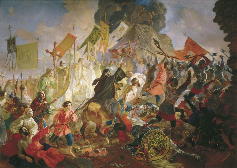 Живопись_Карл-Брюллов_Осада-Пскова-польским-королем-Стефаном-Баторием-в-1581-году-1839-43