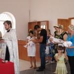 Первое крещение в храме подворья