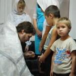 Крещение воспитанников детского дома г. Нариманов