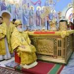 Память святителя Феодосия Астраханского, архиерейское богослужение